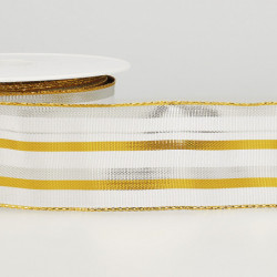 RUBAN LAITONNE STRIPES BLANC