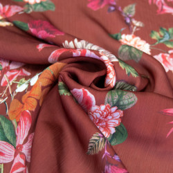 VOILE POLYESTER TERRACOTTA...
