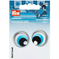 MOTIF YEUX BRODÉ THERMOCOLLANT