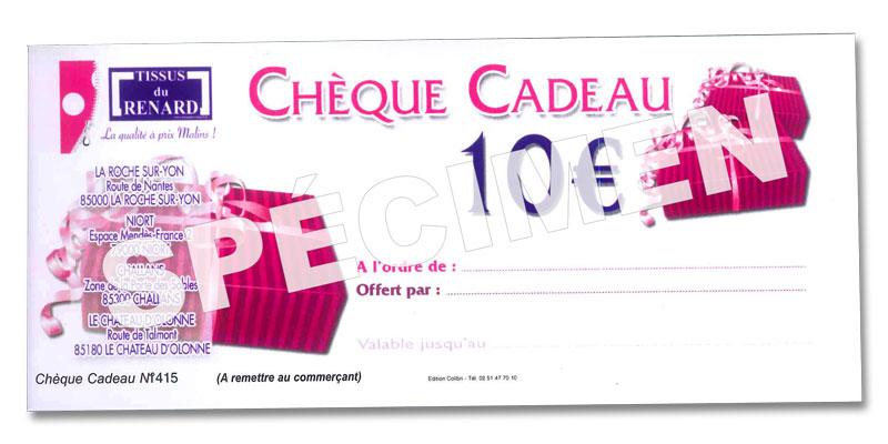 Chèque cadeau Tissus du Renard