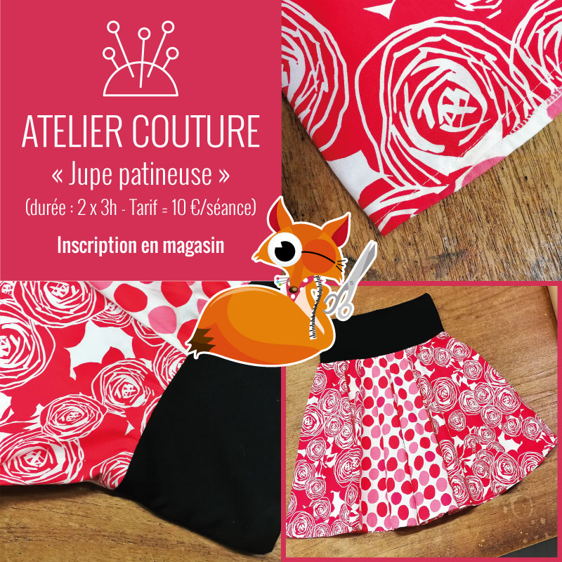 Atelier couture : jupe patineuse by Tissus du Renard
