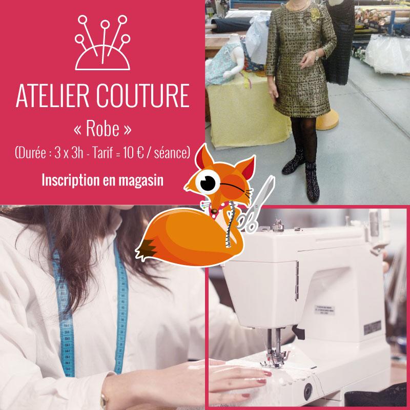 Atelier couture : robe by Tissus du Renard