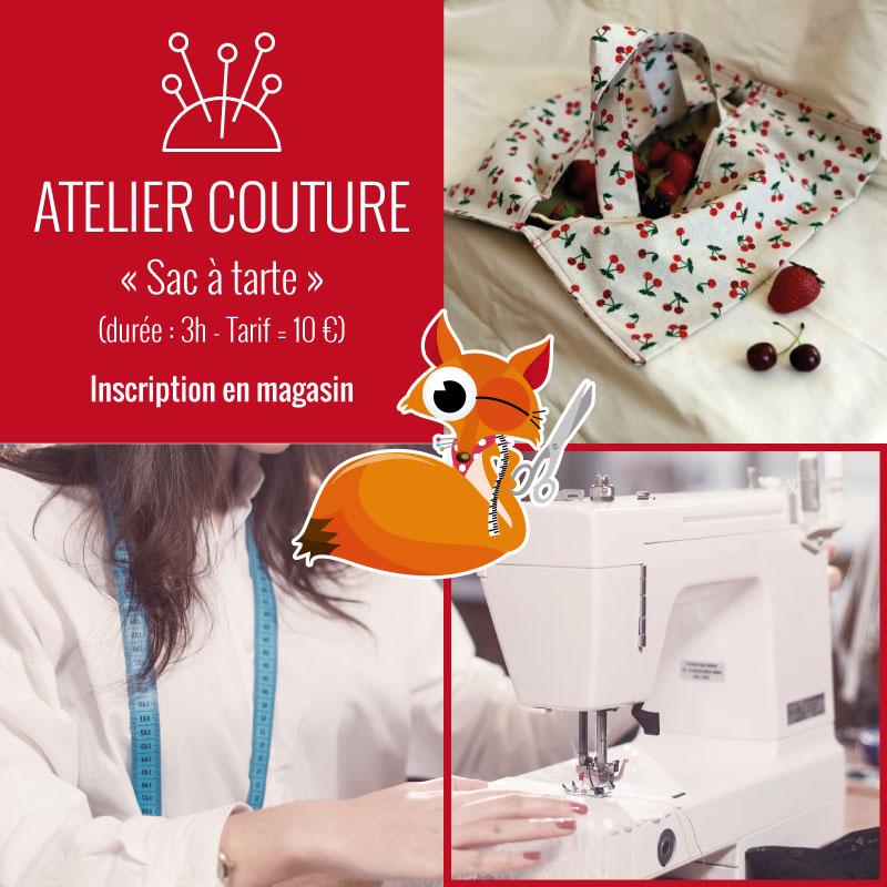 Atelier couture : sac à tarte by Tissus du Renard