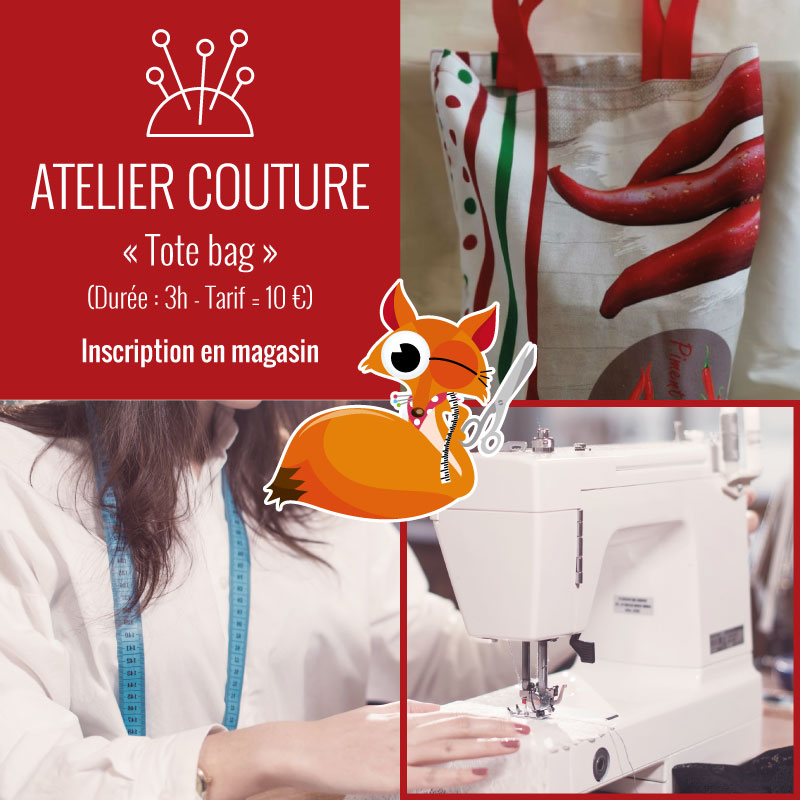 Atelier couture : tote bag by Tissus du Renard