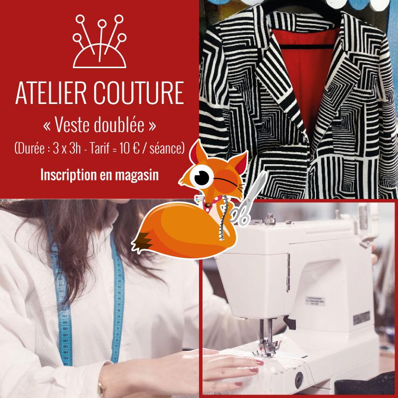 Atelier couture : veste doublée by Tissus du Renard